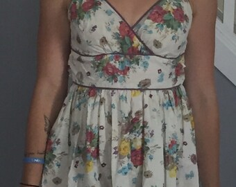 Pastel Floral Print Day Dress