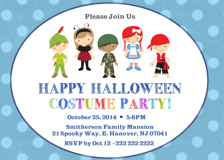 DIY print Halloween invitations kid halloween party diy