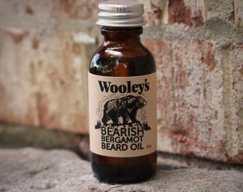 BEARD CARE OIL, Beard Conditioner, Bearish Bergamot Beard Oil (Citrus Scent), Beard Care, Beard Grooming, Gift for Him, Men