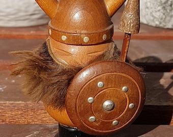 Dinky Vintage Teak Wood Viking Gonk Figure