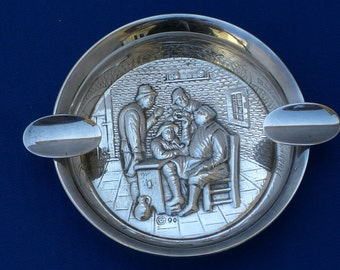 Ashtrays - Silver Plate - Dutch - Set of 2 - Vintage