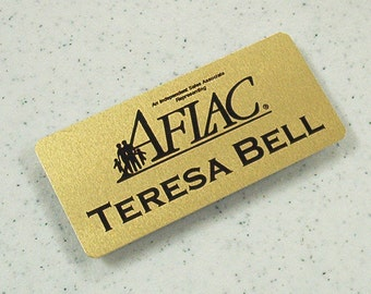 Aluminum Name Tag with magnet back