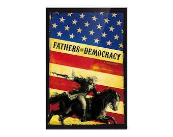 Fathers of Democracy Bumper Sticker, made in the USA! 4x5 Patriotic, Washington