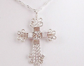Sterling cross necklace