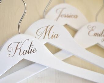 Personalized Bridesmaid Hangers, Wedding Dress Hanger, Engraved Bridesmaid Hanger