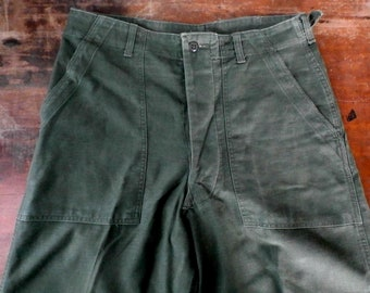 Vintage 1960s Vietnam US Army OG 107 Type 1 Trouser Pants, 32x32