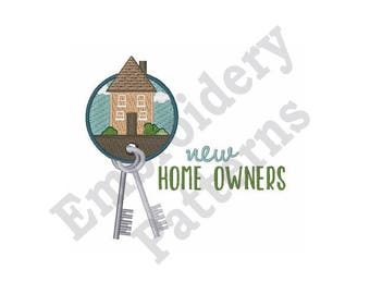 New Home Owners - Machine Embroidery Design