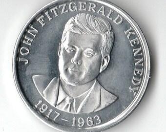 1963 John F Kennedy Aluminum Token