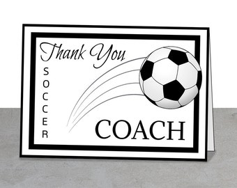 soccer coach thank you card - Boat.jeremyeaton.co