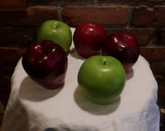 Artificial Apples, Red and Green apples, Apple décor, Fake fruit, Fake apples, Morethebuckles