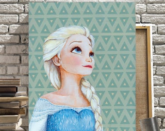 Canvas Print of Elsa from Frozen