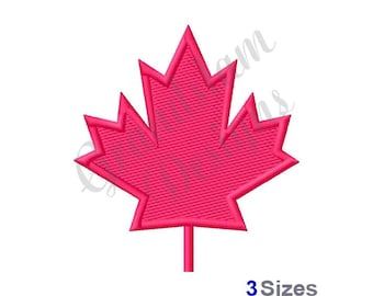 Canadian Maple Leaf - Machine Embroidery Design