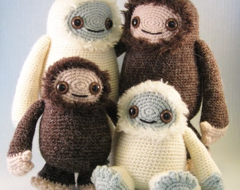 Yeti and Bigfoot Amigurumi Pattern PDF - Crochet Pattern