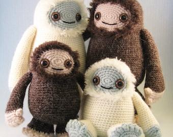 Yeti and Bigfoot Amigurumi Pattern PDF - Crochet Pattern