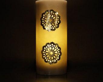 Candle wax - top: 29 cm - diameter: 13 cm