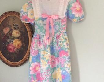 Pretty pastels vintage little girls dress