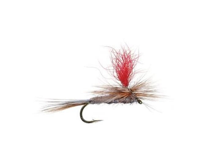High Visibility Adams Parachute Classic Dry Fly - Hook Size 14 - Hand-Tied Fly Fishing Trout Flies