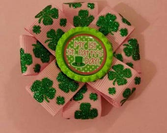 3 inch St patricks day bow