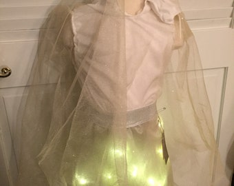 Sparkly, Light-up Ghost Costume