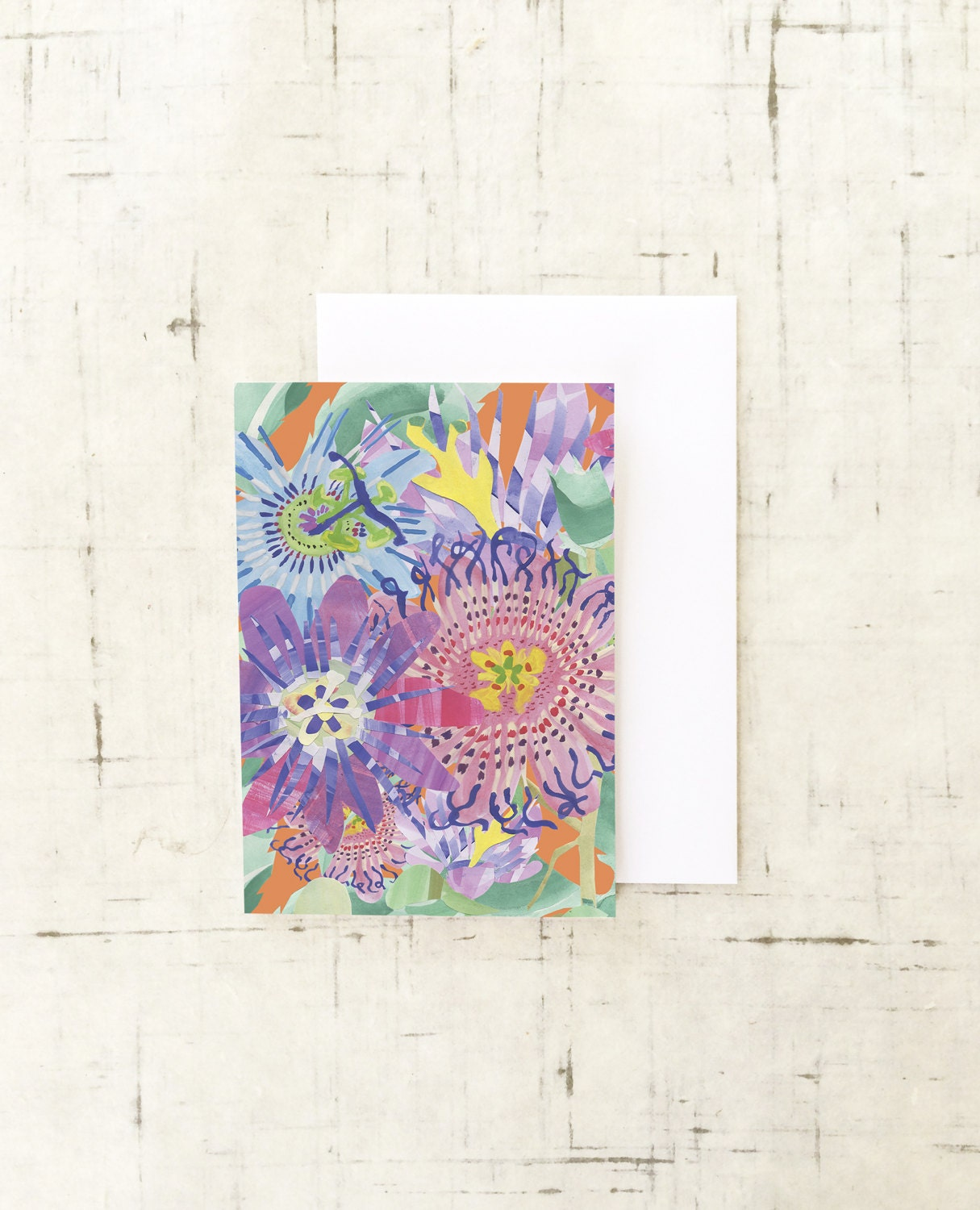 Passion Flower Greeting Card Wall Art Art Prints Paper