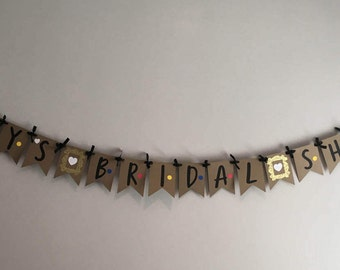 FRIENDS Custom Bridal Shower Engagement Party Wedding Shower Bunting customized banner decor