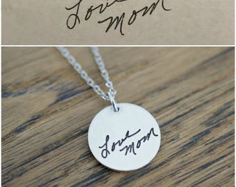 Handwriting Necklace - Personalized Necklace - Handwriting Jewelry Necklace - Gifts for Her, Women - Custom Signature Necklace