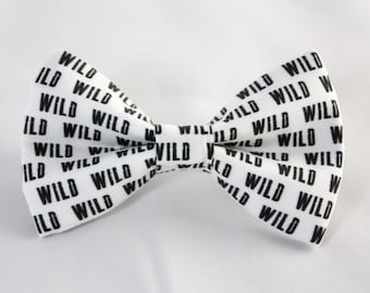 "Dog Bow Tie ""The Be Wild"" in white"