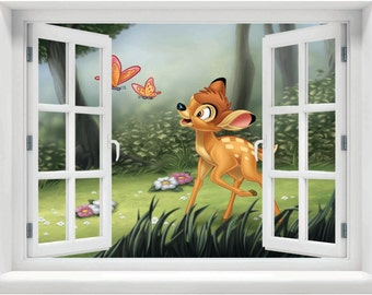 Window with a View Disney Bambi Wall Mural