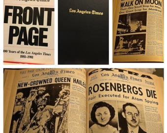 Front Page Headlines From Los Angeles Times 1881 1981 Vintage LA Newspaper