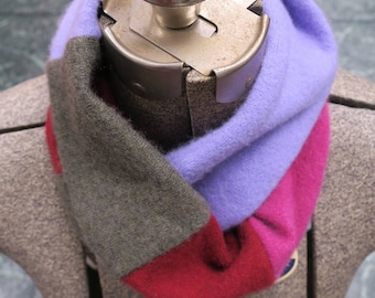 Cashmere colorblock infinity scarf