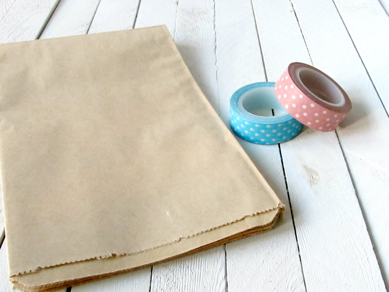 100 5 x 7.5 Kraft Brown Paper Bags Favor Bags plain paper