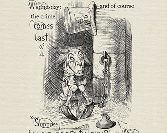 The King's Messenger - quote poster - Alice in Wonderland / Through the Looking-Glass - classic style illustration by J. Tenniel