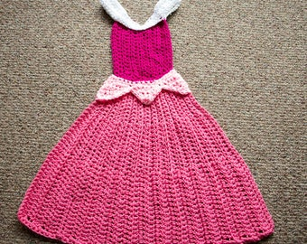 Princess Dress Blanket - Princess Aurora Inspired Dress Blanket - Sleeping Beauty Inspired - Crochet Princess Dress Blanket - All Sizes