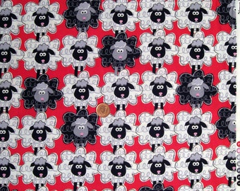 """Curly sheep - Red - FQ 18""""x  20"""""""