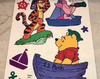 Static Cling Winnie the Pooh, Tiger and Piglet Window Decoration