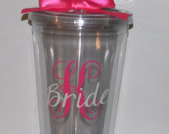 Bridesmaids Gifts - Bridesmaids Cups- Bridesmaids Travel Mugs- Monogrammed Cups - Monogrammed Travel Cups- Bridal Party Gifts- Vacation Cups