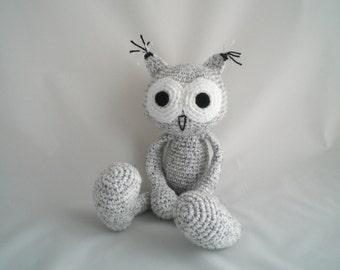 Crochet Owl / Plush Owl Soft Toy / Amigurumi Owl / Crochet Amigurumi Soft Toy / Crochet Owl Plush Soft Toy / Speckled Owl Soft Toy.