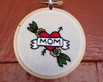 Vintage Style Mom Tattoo