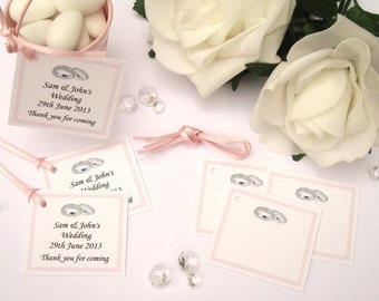 Personalised Wedding Gift Tags - Light Pink - Pack of 10 tags