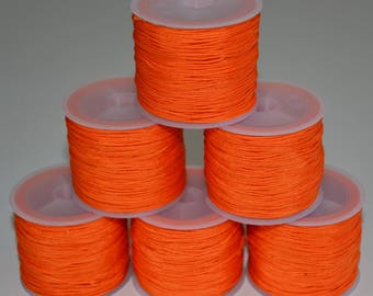 "30 meters of nylon thread or wire jade ""Orange"" 30 m x 0, 8 mm cheap!"