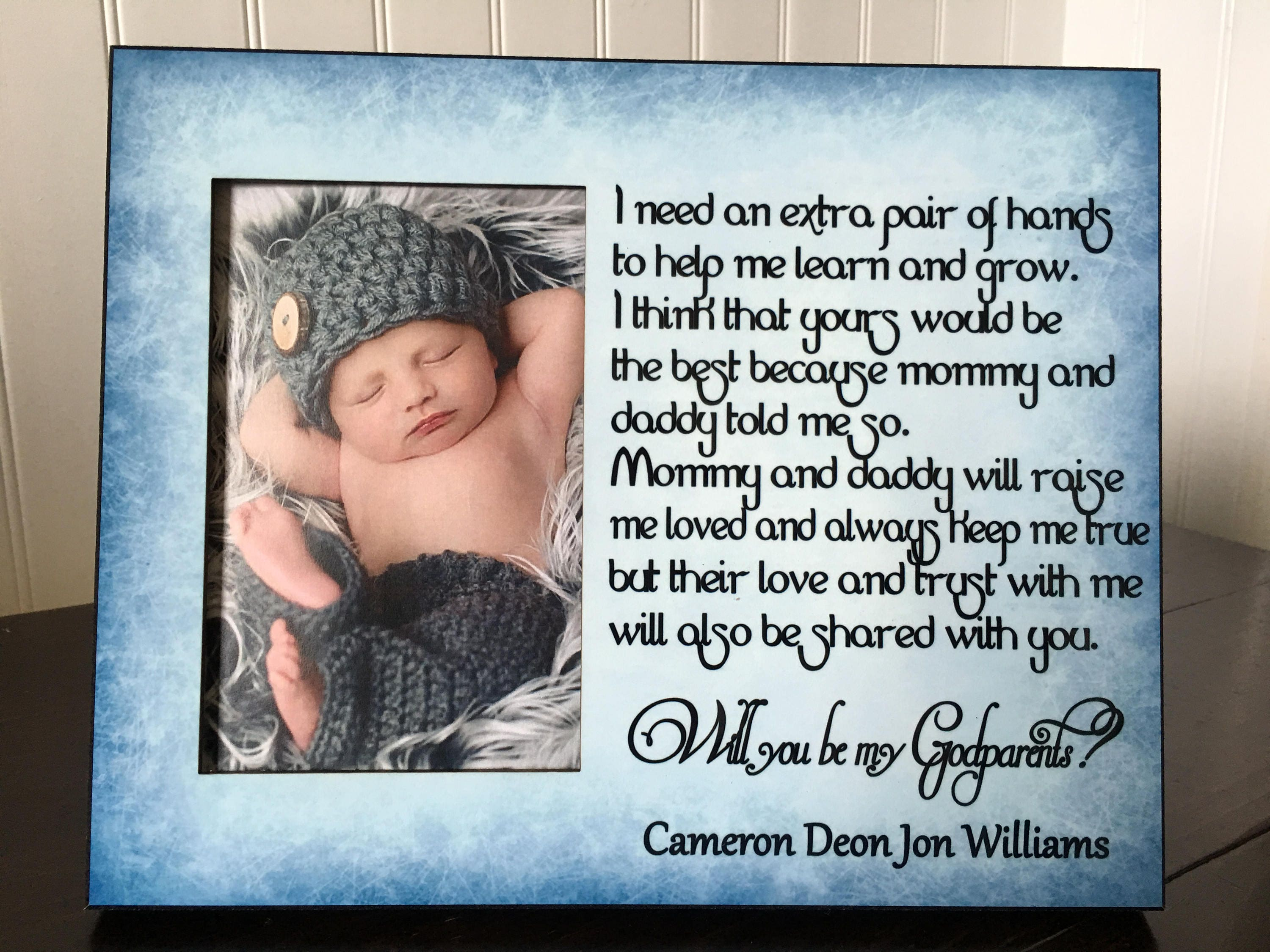 Will you be my godparents picture frame gift godparents zoom jeuxipadfo Choice Image