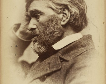 THOMAS CARLYLE Cabinet Card by Elliott & Fry, ca. 1887-1893.