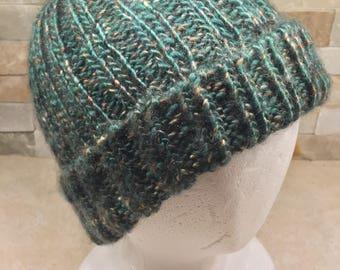 Huntet green Ribbed cap