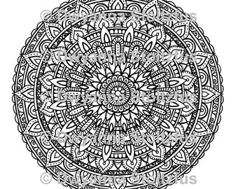 Extreme Stress Relief Mandalas Package 1 - 5 Coloring Pages JPG