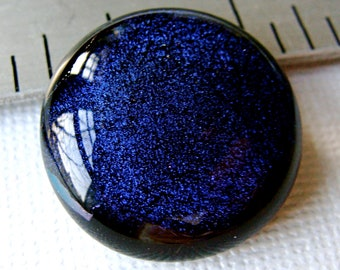 Dichroic Fused Glass Cabochon 22 mm Gothic Purple Beauty