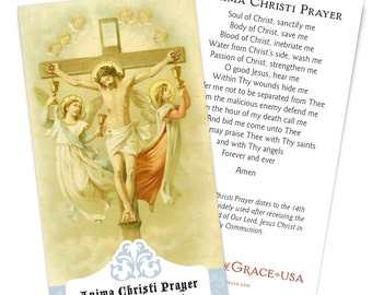 Anima Christi Holy Cards - Bulk Packs of 50 & 100 cards