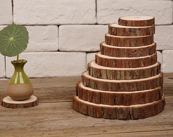 10 pcs Firry Tree Slices,Wood Slices,Rustic Wedding Decor,home decor, DIY, Woodwork Supplie,mat, coaster,Beautiful texture,