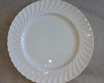 Aynsley White Swirl dinner plates 10 3/4\u0027\u0027 white & Aynsley dinner plate   Etsy