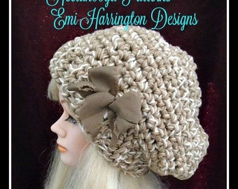CROCHET PATTERN, crochet hat pattern, hat crochet pattern, chunky oversized beanie, age 12 to adult, stylish hat for women and girls, #1015