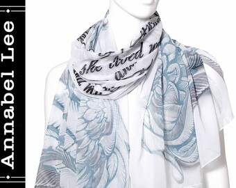Annabel Lee Book scarf chiffon